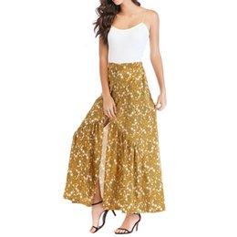 114af7ef6e Casual Bohemia Floral Print Skirt Vintage Floral Long Skirts Women Beach  Summer Elegant Beach Maxi Skirt Boho High Waist