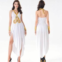greek costumes Australia - Women White Sexy Greek Goddess Costume Halloween Party Cosplay Roman Princess Dress