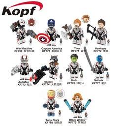 Super heróis da Marvel Infinito Guerra Guardiões da Galáxia Vingadores: Endgame Filmes de Vídeo Jogo Dos Desenhos Animados Blocos Brinquedos Figuras Kopf Blocos KF769