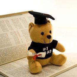 Toy Graduation Bear Australia - 2019 new 20cm plush bear Dr. bear toy cute teddy bear plush animal toy Christmas gift child boy girl graduation gift 66