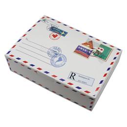 retail package design 2019 - 20Pcs 21*14*5cm Envelope Pattern Design Kraft Paper Packaging Box Grocery Retails Crafts Postcard Carton Paper Packing B