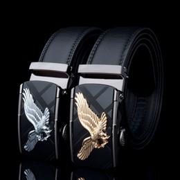 $enCountryForm.capitalKeyWord Australia - Kaweida Designer Belts For Men 2018 Eagle Metal Automatic Buckle Cowskin Split Leather Waist Belt For Men Black Brown Kemer Y19051803