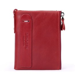 Discount wallet brands for ladies - Genuine Leather Women Wallet Small Fashion Brand Leather Purse Women Ladies Card Bag Coin Pocket Female Wallets for 2019