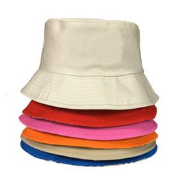 $enCountryForm.capitalKeyWord Australia - Travel Fisherman Leisure Bucket Hats Solid Color Fashion Men Women Flat Top Wide Brim Summer Cap For Outdoor Sports Visor