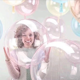 24 inch balloons online shopping - 24 inch No Wrinkle Crystal Bubble Transparent Clear PVC Balloons Wedding Birthday Party Decor Helium Inflatable Bobo Balls