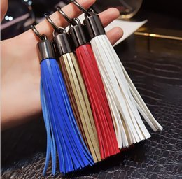 anchor handbags Australia - New products 2019 high quality decorative leather tassel for handbag, tassel key ring, leather keychain