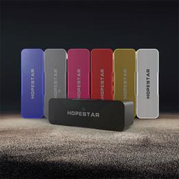 Audio Mic Australia - Wholesale- Hopestar H13 Stereo Hifi Bluetooth Mini Speaker Portable Wireless Speakers MP3 Loudspeaker Car Handsfree MIC Audio Player ,Suppor