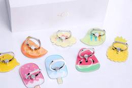 Discount phone rings - New Ring bracket Universal mobile phone rotates 360 degrees Cute cartoon pattern is easy to prevent shatter Mobile phone