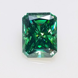 100% Real GIGAJEWE Green color Big Size Radiant Cut Moissanite Loose Gemstone By Excellent Cut Free Shipping on Sale