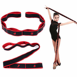 Tire de yoga estiramiento de la correa de baile latino estiramiento elástico de la correa de la correa de yoga de la aptitud Ejercicio banda de resistencia para adultos unisex de los niños del ballet, Pilates en venta