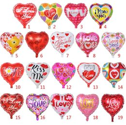2017 party supplies 18 Inch inflatable Valentine's Day party ballons decorations bubble Aluminum film balloon I Love You Heart balloons toys supplies SN2617