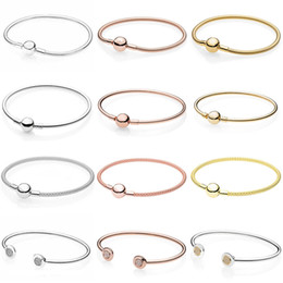 $enCountryForm.capitalKeyWord Australia - Moments Smooth Ball Clasp Mesh Letter Signature Clip Suitable Bracelet Fit Europe Snake Bangle 925 Sterling Silver Bead Charm