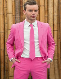 $enCountryForm.capitalKeyWord Australia - Brand New Rose Red Mens Wedding Tuxedos Notch Lapel Groom Groomsmen Tuxedos Man Blazers Jacket Excellent 2 Piece Suits(Jacket+Pants+Tie) 316
