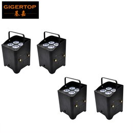 Battery Charging Units UK - Freeshipping 4 Unit Freedom Hex 4 Wireless Battery Powered LED Par Cans 2.4G Receiver IRC-6 Infrared Flightcase Charging Socket TP-G3045