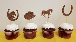 $enCountryForm.capitalKeyWord Australia - Glitter western cowboy Horses party Birthday Cupcake Topper. Cupcake Decoration. Secret Garden Party Decoration