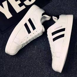 Eu 45 shoE sizE online shopping - Big size EU Originals Men s Shoes For Women s Shoes White Shoe Laser Dazzle Colour Superstar Shell Toe casual shoes