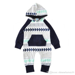 Toptan satış Erkek Bebek Giysileri Erkek Sonbahar Romper Şapka Bebek Hoodies Hatır 0-24 Mos Bebek Giyim ile Towdler Tişörtü