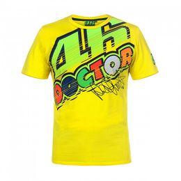 $enCountryForm.capitalKeyWord Australia - 2018 Motocycle Valentino Rossi T-Shirt Moto GP Motorcycle Racing 46 Sports Racing The Doctor signature Yellow Tee shirts