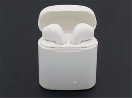 Mini I7X Bluetooth V5.0 Auriculares Deportes Música Auriculares 3D Estéreo Inteligente Auriculares intrauditivos para iPhoneX 8 7 6 / Plus Andriod Phones Pods en venta