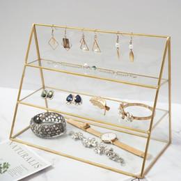 $enCountryForm.capitalKeyWord UK - 5 pcs Gold Glass Office Hotel Restaurant Metal Jewelry Display Organizer Holder Tray Bathroom Home Decoration