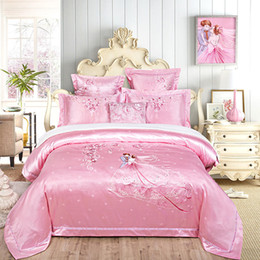 $enCountryForm.capitalKeyWord Australia - Jacquard Embroidery Wedding Bedding Set Satin   Cotton Queen King Size European and Chinese Style Classical Decoration