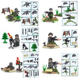 bricks toys army 2019 - 6pcs set Modern Military Speical Forces Army Building Blocks Bricks Models Figure Kits Toys Children Gift