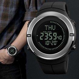 2019 ساعة ذكية جديدة للرجال البوصلة العد التنازلي ساعة توقيت متعددة الوظائف الصمام الساعات الإلكترونية طالب مشاهدة الرجال