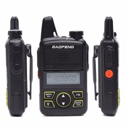 Wholesale hams radio online – design 10pcs PTT Baofeng BF T1 New Portable radio new MINI Walkie Talkie Dual Ham radio communicador Transceiver