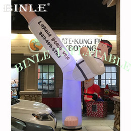 inflatable boy Canada - Customized LED lighted Inflatable Karate for advertising Inflatable Taekwondo Boy with logo printed