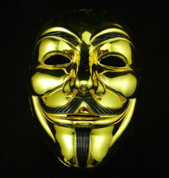 V Vendetta Cosplay UK - Halloween mask costume party Cosplay Halloween Party Guy Fawkes V FOR Vendetta Anonymous Adult party Mask decorations 2 colors