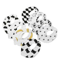 Waterproof toWels online shopping - Saliva Towel Banana Panda Penguin Small Triangle Bib Penguin Bib Batman Mengbao Cotton Baby Waterproof