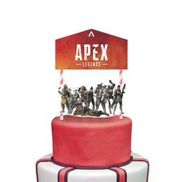 Kids Party Cupcakes Australia - Apex Legends Cupcake Picks Cake Toppers Cartoon cake Inserts Card Christmas Party Gifts for Kids Birthday Decor C6603