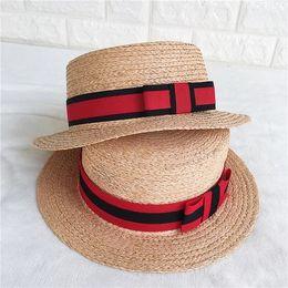 $enCountryForm.capitalKeyWord Australia - brand design woven summer beach hat raffia grass hat bowknot top quality stingy brim free shipping