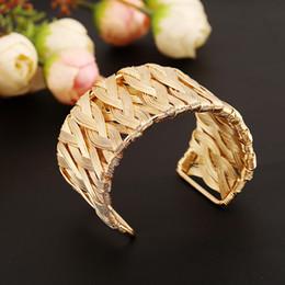$enCountryForm.capitalKeyWord Australia - Star Jewelry Punk Style Cuff Bangles Gold Metal Wrap Weaving Gold Silver Bracelet Clothes Jewelry Costume Jewellery