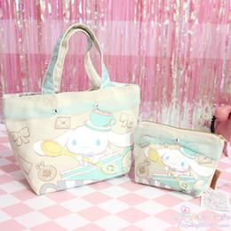 Dog Zipper Australia - Cartoon Cute Cinnamoroll Dog Anime Cosmetic Bag Women Cinnamoroll Dog Lace Makeup Bags Storage Bag for Girls Lover Gift