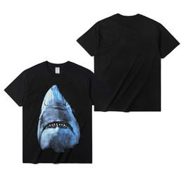 $enCountryForm.capitalKeyWord Canada - Luxury Mens Designer T Shirt Designer Casual Short Sleeves Fashion Shark Printing High Quality Men Women Hip Hop Tees