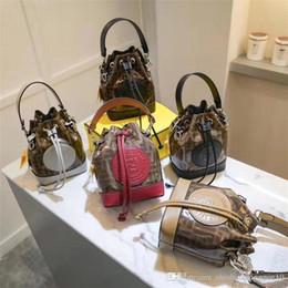 F Brand Bags Australia - New fashion F letter logo Drawstring bucket bag Vintage handbag Shoulder Messenger brand handbag 9015