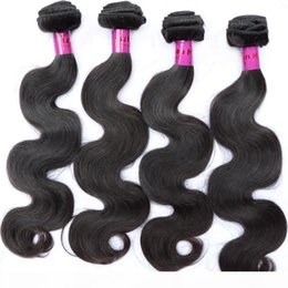 hair products dhl UK - Virgin Brazilian Hair Bundles Weaving 8-34inch Human Hair Product 4pcs mix size no shedding free tangle DHL Fast Drop Shipping Natural Color