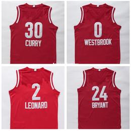 $enCountryForm.capitalKeyWord Australia - 2016 Basketball All Star West Red #24 #2 Leonard #0 RW Jersey Stitched Logo Embroidery New Material Sports Jerseys Ncaa