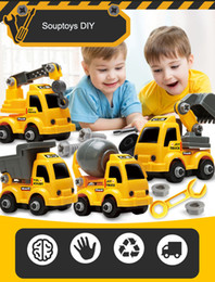 $enCountryForm.capitalKeyWord Australia - Cartoon Car Model Developmental Toy, DIY Excavator, Crane, Dumper, Concrete Tank Truck, for Kid' Birthday' Gift, Collecting, Home Decoration
