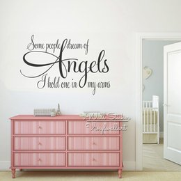 Bathroom Wall Sticker Quotes Australia - Angels Quotes Wall Decal, Kids Room Quote Wall Sticker, Vinyl Wall Stickers Living Room House Decor Q244