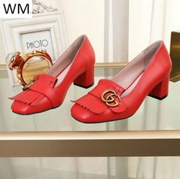 thick soled shoes NZ - Duping520 New Women's Red Square Thick-soled High Heels Women High Heels Sandals Slippers Mules Slides Pumps Shoes Sneakers Dress Shoes