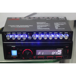 Wholesale Freeshipping 7 segment equalizer Car Audio EQ tuning crossover Amplifier Car Equalizer DC 12V D3-008