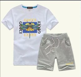 Hot Boys Winter T Shirt Australia - Baby Boys And Girls Designer T-shirts And Shorts Suit Brand Tracksuits 2 Kids Clothing Set Hot Sell Fashion Summer Children's T52122