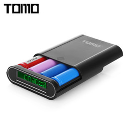 Power Bank Charger Outputs Australia - TOMO S4 DIY Smart Power Bank 4 x 18650 Li-ion Battery Type-C Micro USB 8 Pin Input Dual Output Charger