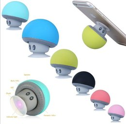 plastic phone holders Australia - DHL MeterMall Cute Mushroom Shaped Portable Wireless Bluetooth Speaker Mini Mobile Phone Holder 6 Colors Optional Support TF Card