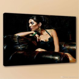 $enCountryForm.capitalKeyWord Australia - High Quality Fabian Perez Tess Bar Girl Portrait Handpainted & HD Print Art oil painting,Home Decor Wall Art On Canvas Multi Sizes p86