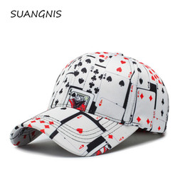 poker sports NZ - 3D Poker Printed Baseball Cap for Men 2019 Streetwear Hip Hop Harajuku Casual Adjustable Sports Rapper Trucker Cap Dad Hat Bone