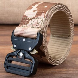 Wholesale Duty Free Australia - Outdoor military belt Tactical Belts Nylon Waist Belt with Metal Buckle Adjustable Heavy Duty Training Waist Belt Hunting Accessories