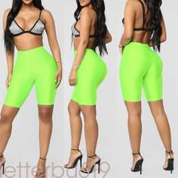 sexy black women booty Australia - Fluorescence Biker Shorts Tracksuit Slim Black Casual High Waist Shorts Women Fashion Solid Sexy Booty New